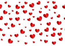 Het hart van de de kaartorigami van de valentijnskaartendag Stock Foto