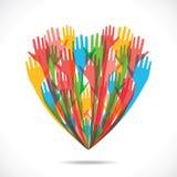 Het hart van de kleur Stock Afbeelding
