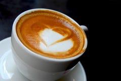 Het hart van de koffie Stock Foto