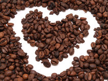 Het hart van de koffie Stock Afbeeldingen