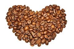 Het hart van de koffie Stock Foto's