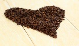 Het hart van de koffie van vlam van achtergrond love.abstract Stock Foto