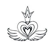 Het Hart van de koning met Vleugels royalty-vrije illustratie