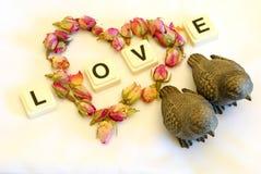 Het hart van de liefde Stock Foto