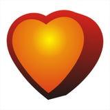 Het hart van de liefde Stock Foto's