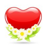 Het hart van de liefde met bloemen Royalty-vrije Stock Foto