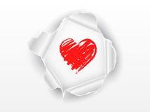 Het hart van de liefde op document achtergrond Royalty-vrije Stock Foto's