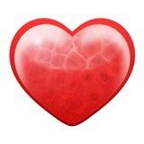 Het hart van de liefde van rozen stock foto