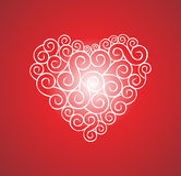 Het hart van de liefde, vector Stock Afbeeldingen