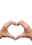 Het hart van de minnaar Stock Foto