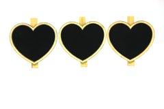 Het hart van de nota Stock Afbeelding