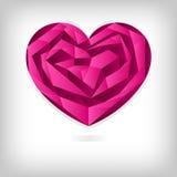 Het hart van de origami, van de achtergrond valentijnskaart`s dag concept Stock Foto's