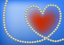 Het hart van de parel Stock Afbeelding