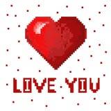 Het hart van de pixelkunst Royalty-vrije Stock Foto's
