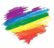 Het hart van de regenboog royalty-vrije illustratie