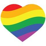 Het hart van de regenboog Stock Foto's