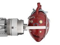 Het hart van de robotholding Stock Afbeeldingen