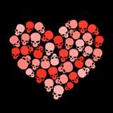 Het hart van de schedel voor valentineâsdag Royalty-vrije Stock Foto