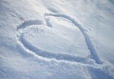 Het Hart van de sneeuw Royalty-vrije Stock Afbeelding