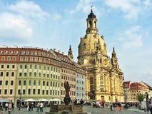 In het hart van de stad Dresden van de metropool Stock Foto's
