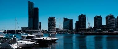 In het hart van de stad van Melbourne stock afbeeldingen