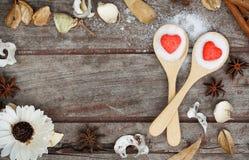 Het hart van de suiker stock afbeeldingen