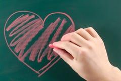 Het hart van de tekening Stock Afbeeldingen