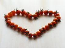 Het hart van de tomaat Stock Foto