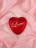 Het hart van de valentijnskaart stock fotografie