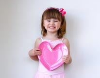Het Hart van de valentijnskaart Stock Foto's