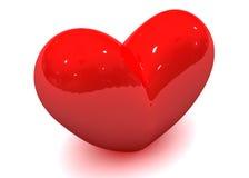 Het hart van de valentijnskaart Stock Afbeeldingen