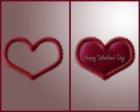 Het Hart van de valentijnskaart Royalty-vrije Stock Afbeelding