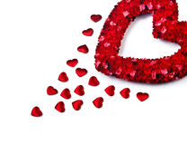 Het hart van de valentijnskaart Royalty-vrije Stock Foto's