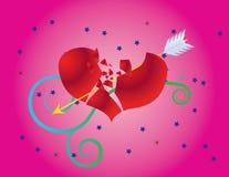 Het hart van de valentijnskaart Stock Illustratie