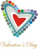Het Hart van de valentijnskaart Royalty-vrije Stock Foto