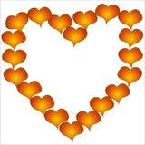 Het hart van de valentijnskaart. stock illustratie