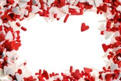 Het hart van de valentijnskaart bestrooit Stock Afbeeldingen