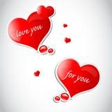 Het hart van de valentijnskaart met sneeuwvlokken Stock Afbeelding