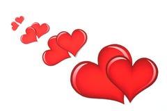 Het hart van de valentijnskaart \ 's op white_2 Stock Fotografie