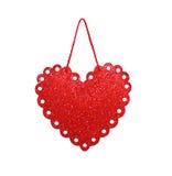 Het Hart van de valentijnskaartendag op een geïsoleerde achtergrond Stock Afbeelding