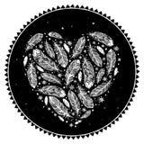 Het hart van de veer Stock Foto