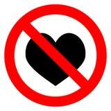 Het hart van de verbodsliefde royalty-vrije illustratie