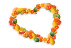Het hart van de vitamine C stock afbeelding