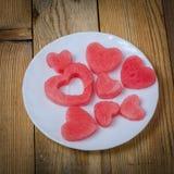 Het hart van de watermeloen royalty-vrije stock foto