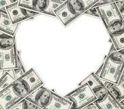 Het hart van dollars. royalty-vrije stock afbeelding