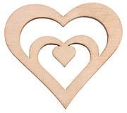 Het hart van een boom op witte close-up wordt geïsoleerd die als achtergrond Stock Fotografie