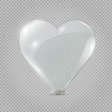 Het hart van het glas Vector illustratie Vector illustratie Stock Foto's