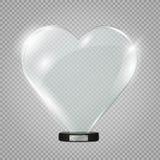 Het hart van het glas Vector illustratie Vector illustratie Royalty-vrije Stock Foto's