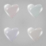 Het hart van het glas Vector illustratie Vector illustratie Stock Fotografie