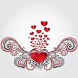 Het hart van Grunge Royalty-vrije Stock Afbeelding